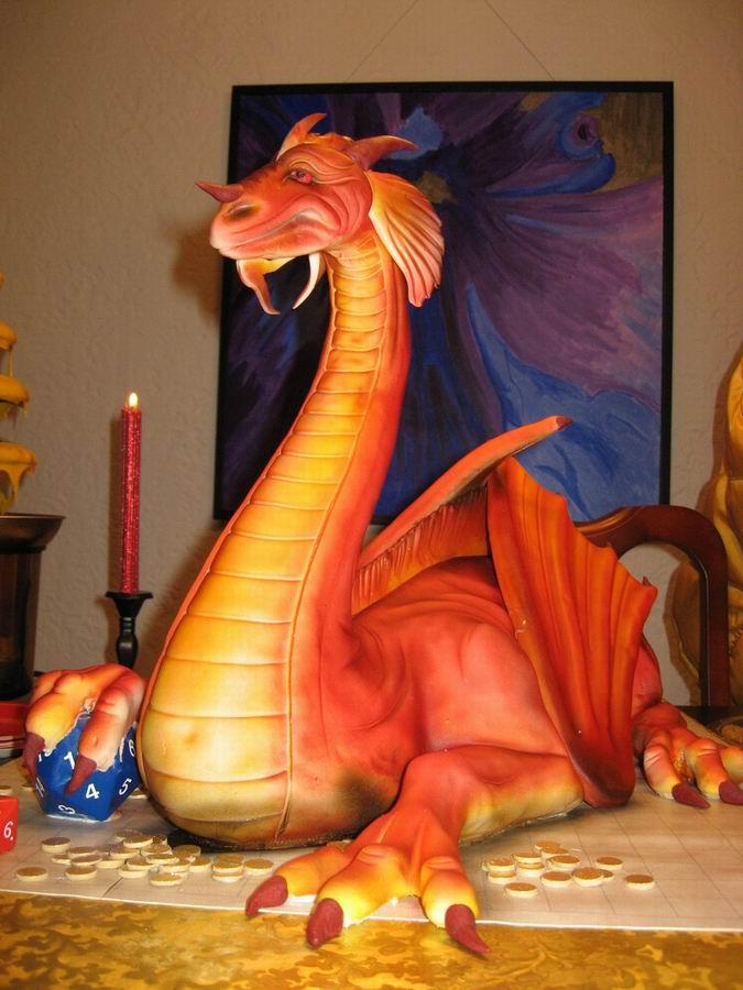 Как слепить дракона из салата фото